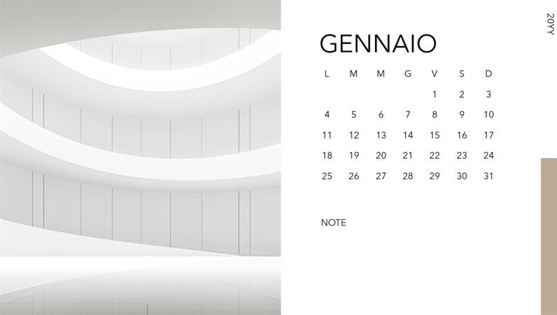 Calendario fotografico architettonico