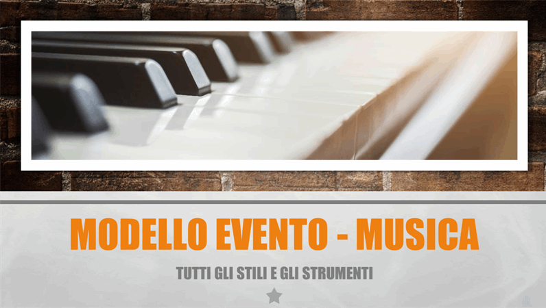 Modello Evento - Musica