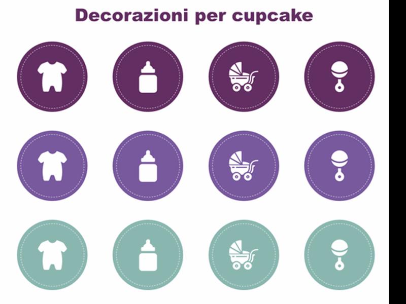 Decorazioni cupcake per baby shower