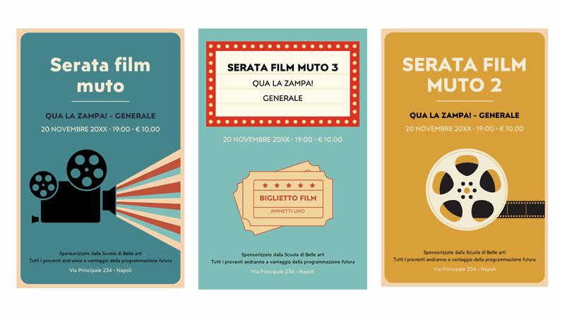 Poster per una serata cinema