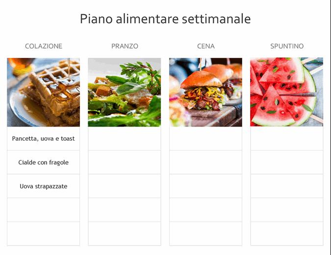 Piano alimentare semplice