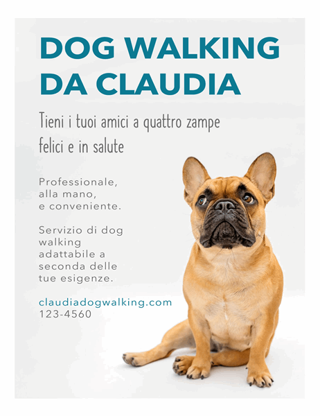 Volantino per dog sitter