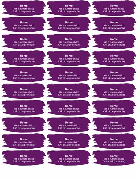 Etichette stile spennellata (30 per pagina)