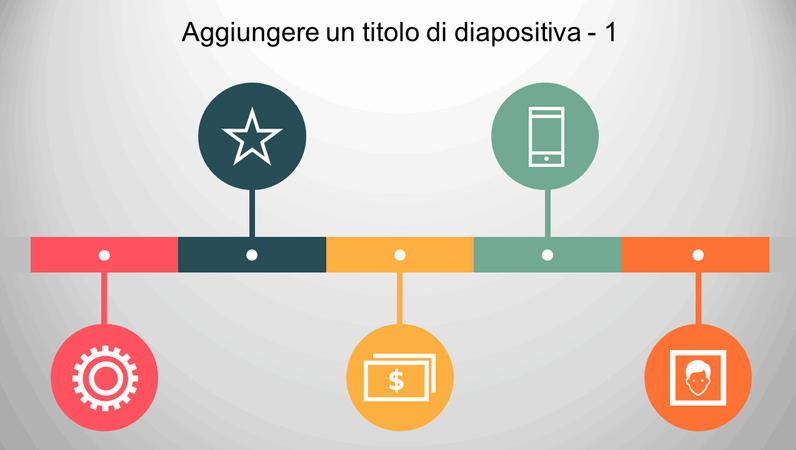Sequenza temporale infografica