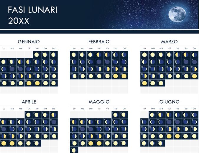 Fasi del calendario lunare