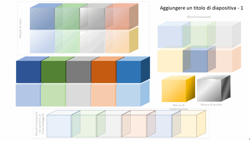 Elementi grafici a blocchi colorati