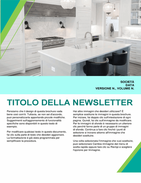 Newsletter per interior design