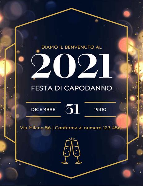 Inviti a festa di Capodanno