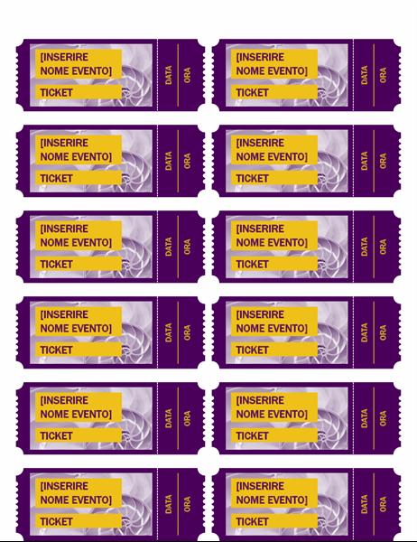 Biglietti viola per eventi
