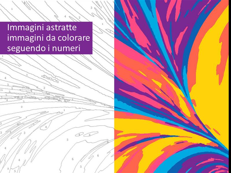 Immagini astratte da colorare seguendo i numeri