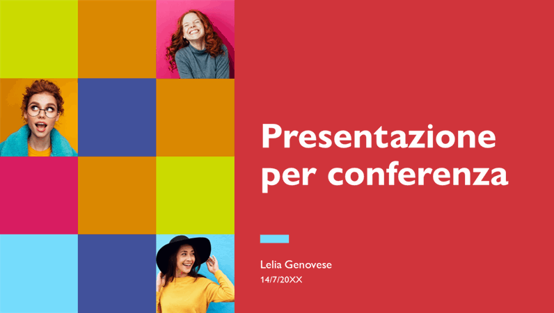 Presentazione vivace per conferenza