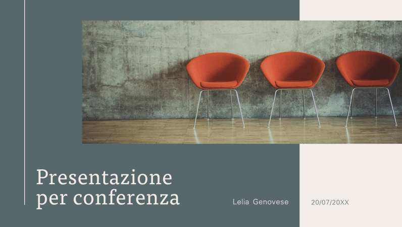 Presentazione moderna per conferenza