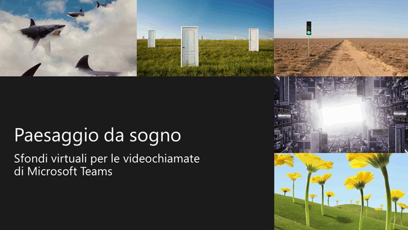 Sfondi virtuali Teams con paesaggi immaginari