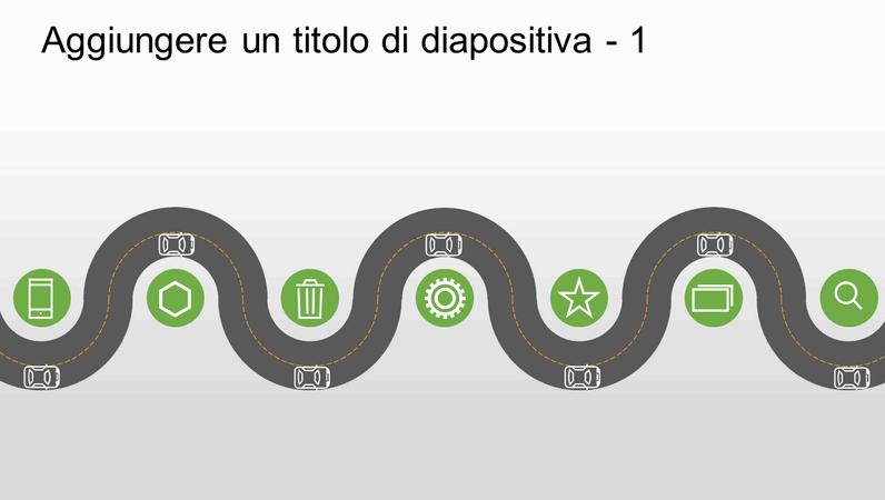 Sequenza temporale di un elemento grafico dell'avanzamento di una strada