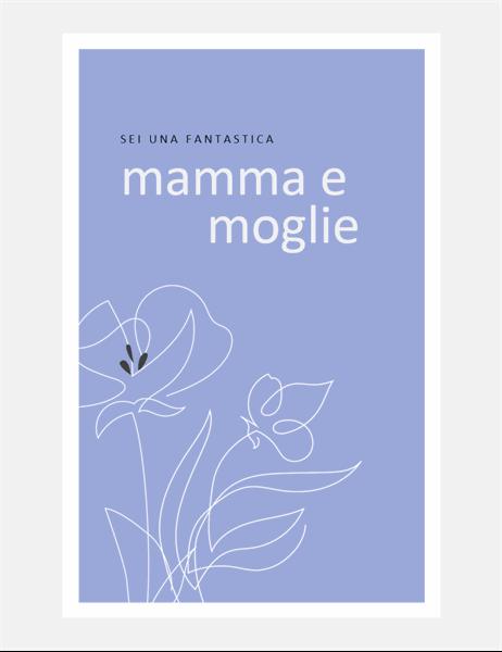 Grazioso biglietto per la festa della mamma