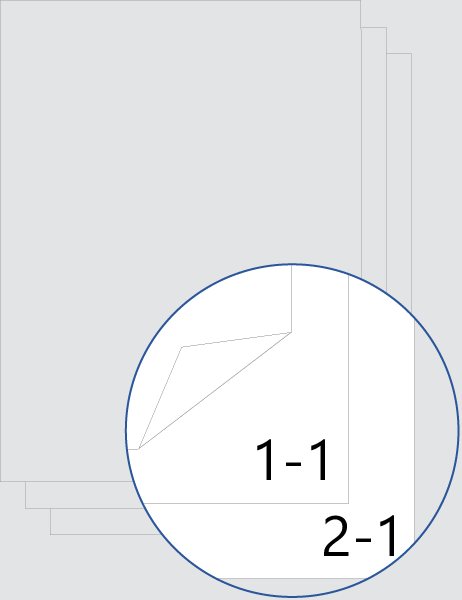 Numerazione delle pagine del capitolo