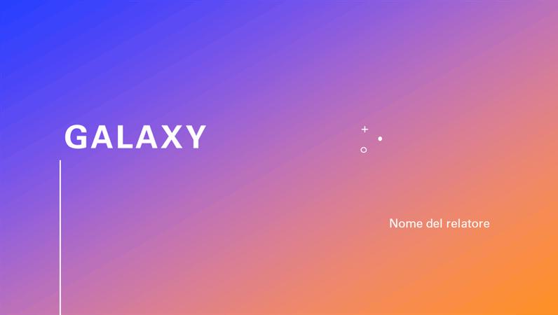 Presentazione Galaxy