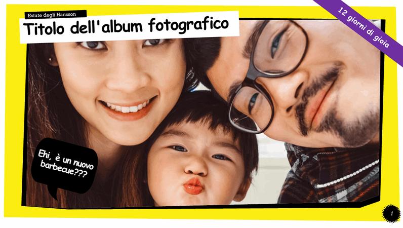 Album fotografico striscia a fumetti