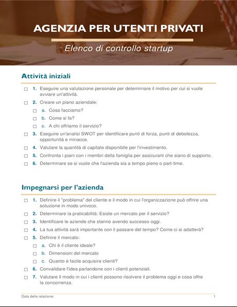 Elenco di controllo startup per azienda da casa