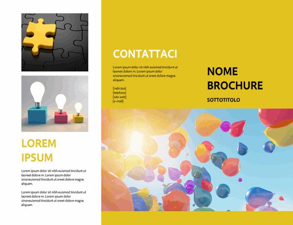 Brochure evento gialla
