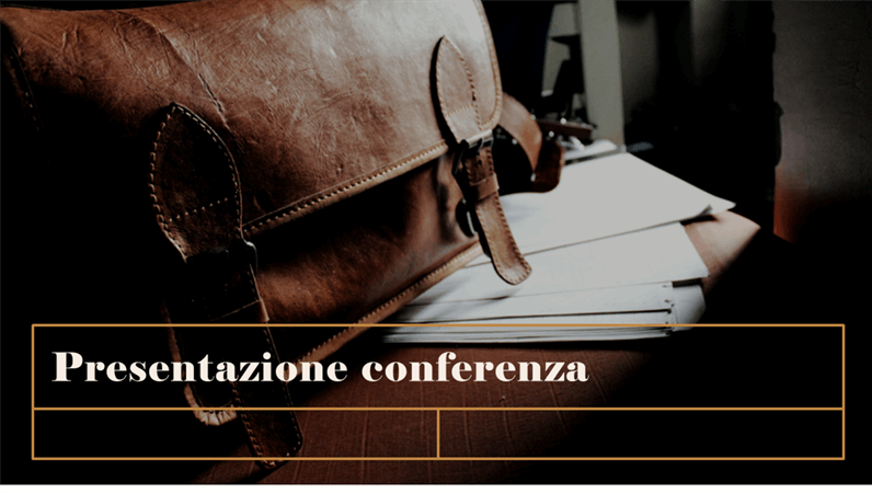 Presentazione classica per conferenza