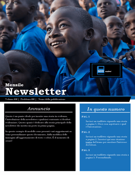 Newsletter no profit