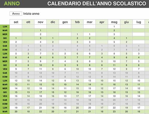 Calendario annuale università