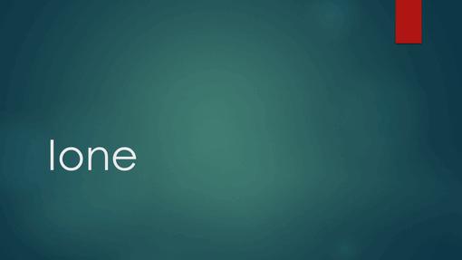 Ione blu