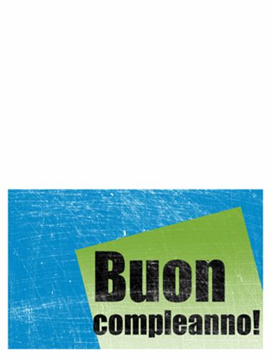 Biglietto di compleanno, sfondo graffiato (blu, verde, pieghevole)