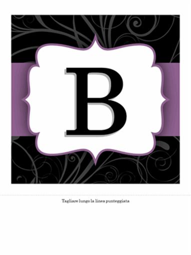 Striscione anniversario (design nastro viola)
