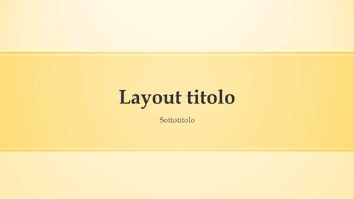 Presentazione con banda gialla (widescreen)