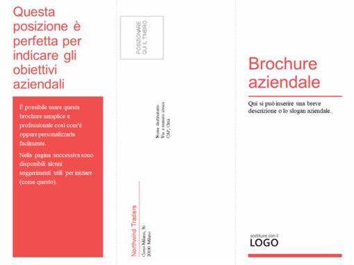 Brochure aziendale medica a tre facciate (modello rosso, bianco)