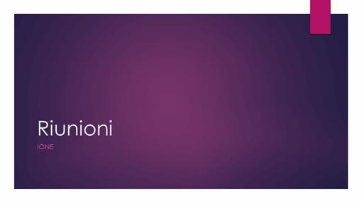 Riunioni ione