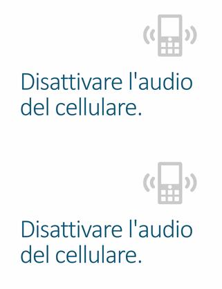 Poster per ricordare di disattivare l'audio del cellulare