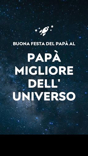 Biglietto di auguri spaziale per la Festa del papà