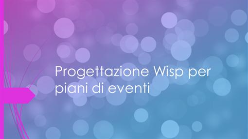 Progettazione Wisp per piani di eventi