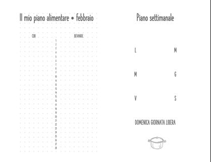 Diario della pianificazione dei pasti