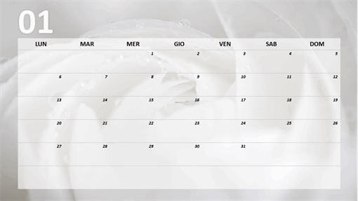 Calendario mensile floreale