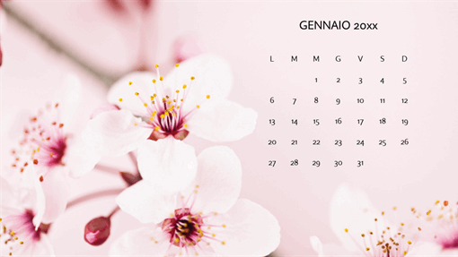 Calendario fotografico floreale