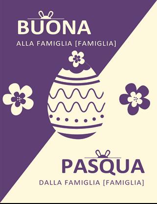 Biglietto di Pasqua viola