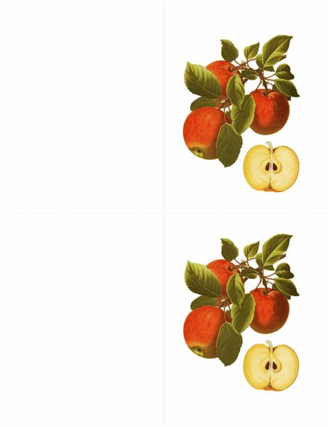 ボタニカル グリーティング カード (10 枚、1 ページに 2 枚)