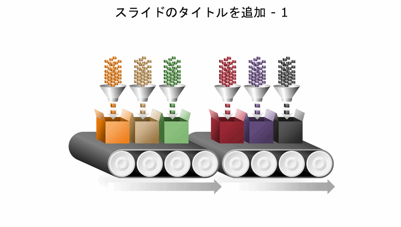 ベルト コンベアーのマルチプロセス図