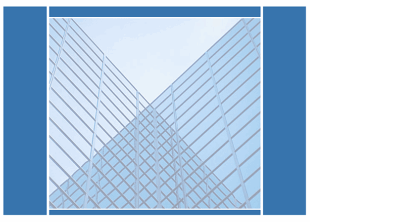 デザイン テンプレート (鏡張りの建物)