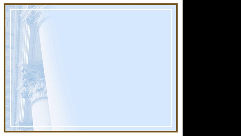 デザイン テンプレート (コリント様式の円柱)