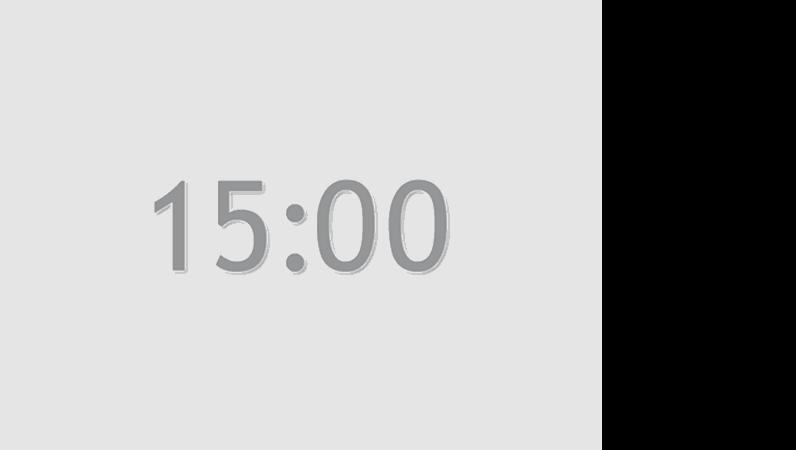 15 分タイマのスライド (灰色)
