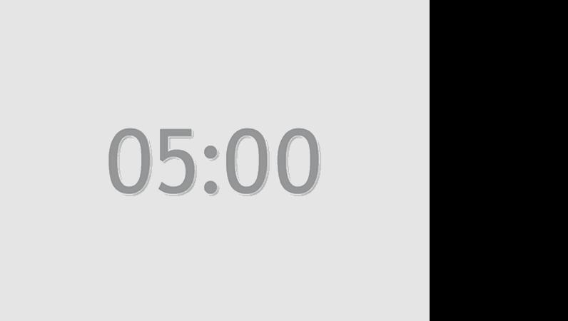 5 分タイマのスライド (灰色)