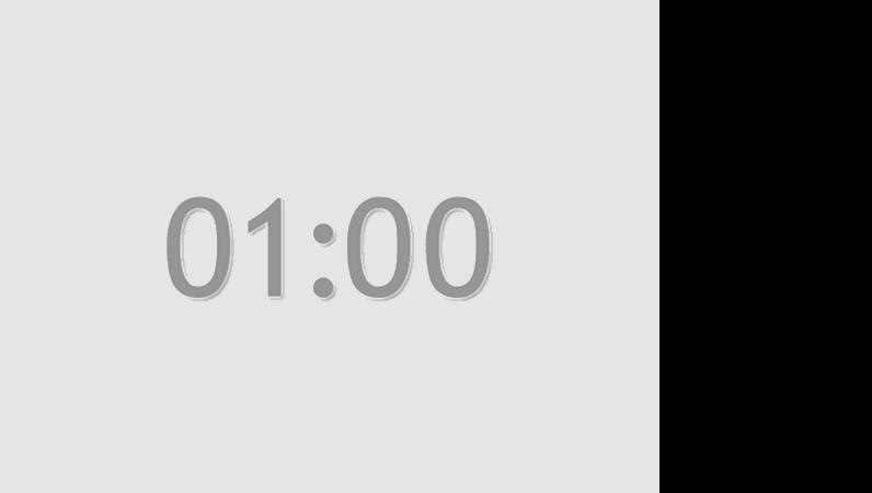 1 分タイマのスライド (灰色)