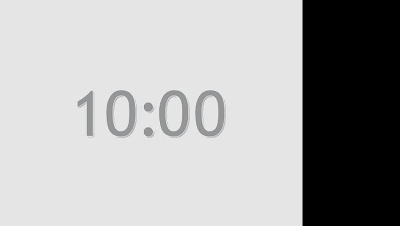 10 分タイマのスライド (灰色)