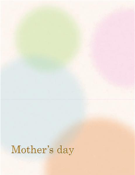 母の日用サンキューカード(女性用)