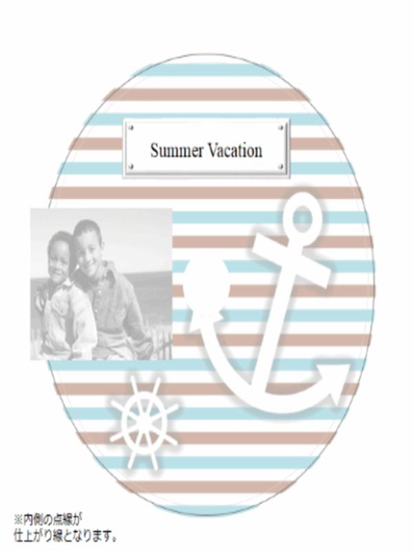 夏休み用 DVD ラベル